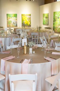 Romantic vintage wedding reception