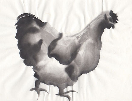 Chicken sumi-e