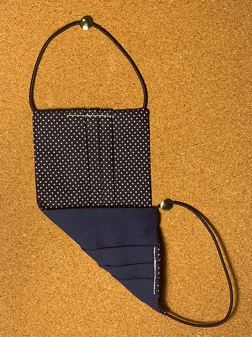 Máscara de proteção reutilizável  (azul marinho)