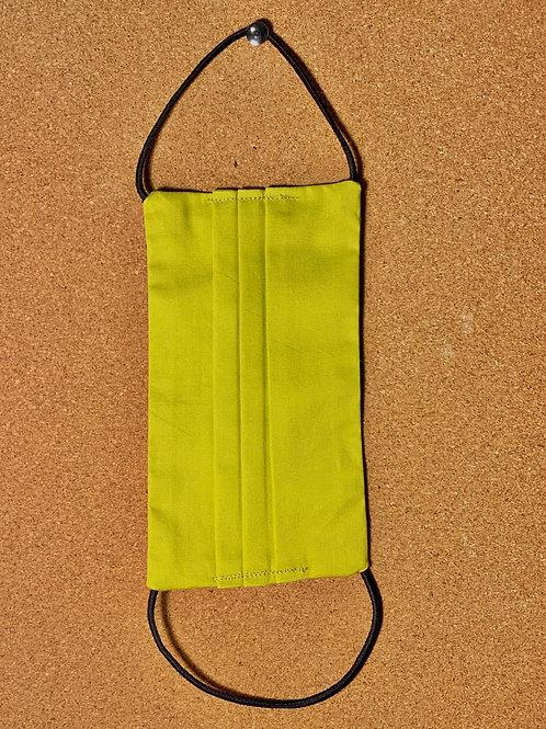 Máscara de proteção lisa- Mostarda esverdeado