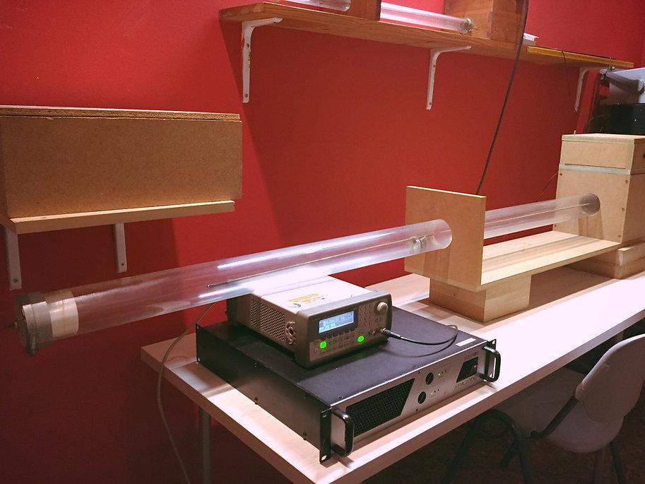 tubo de impedancia, coeficiente de absorción acústica