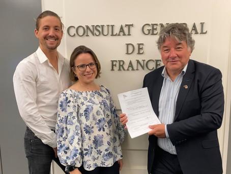 La liste Ensemble Maintenant ! a été déposée au Consulat général de Sydney