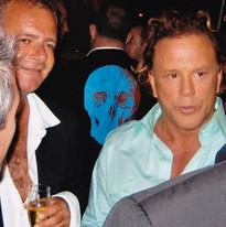 David Lightfoot with Mickey Rourke