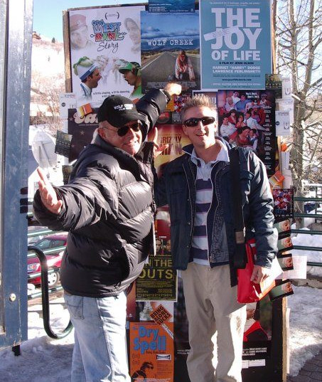 David Lightfoot with 'Wold Creek' director Greg Mclean