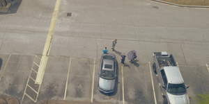 Drone via Cross Aerial Photography