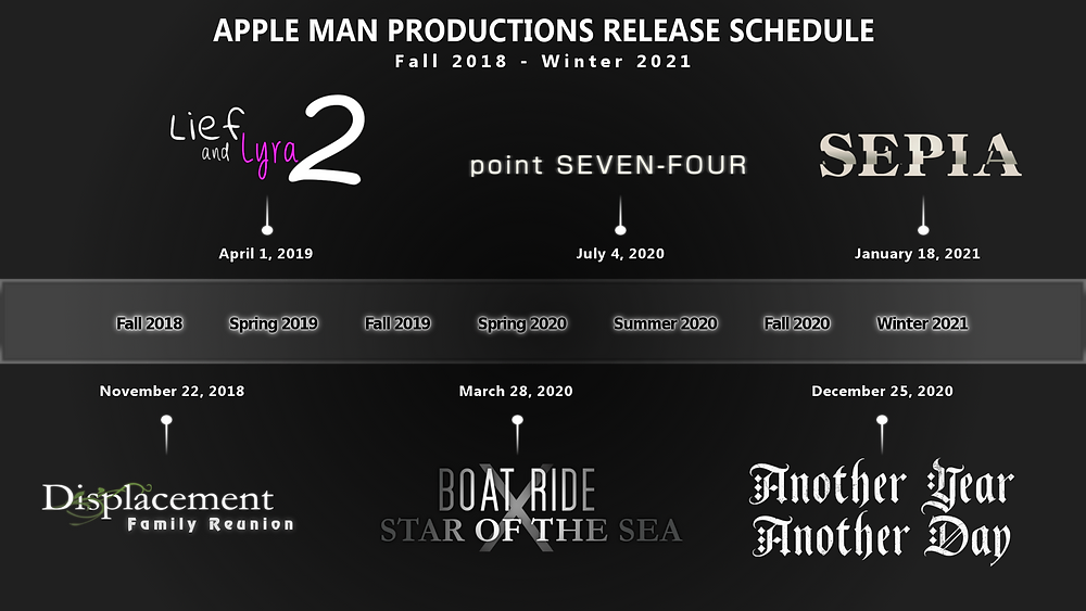 Apple Man Productions Release Schedule