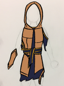 Costume Concept Art for A Year and a Day