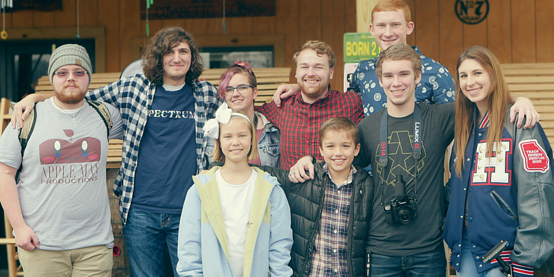 The cast and crew of our first film of the year.