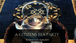 A citizens tea party teapot