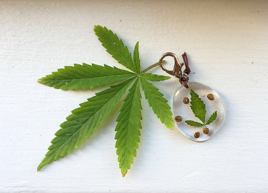 Cannabis Keyring