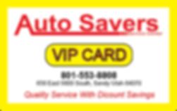 Auto Savers VIP card