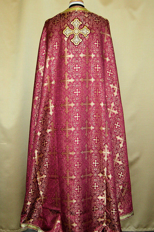Chalcedon burgundy priest vestments