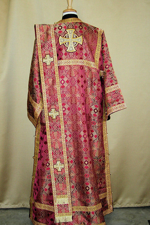 Deacons vestments brocade, burgundy