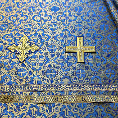 Ravenna dark blue deacon's vestments