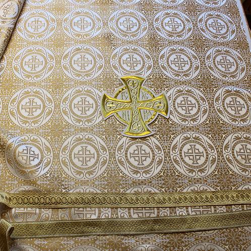 Edessa white-gold priest vestments