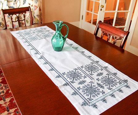 Cerulean CrossStitch Table Runner