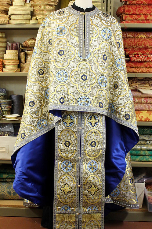 Adrianople blue priest vestments