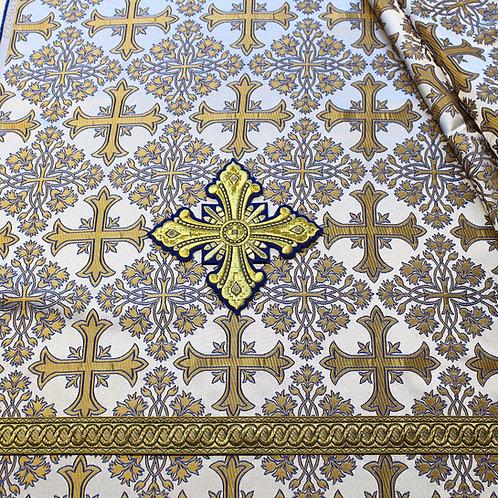 Corinth white-gold-blue deacon's vestments