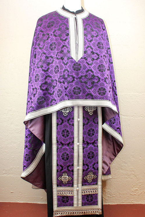Ravenna purple-black priest vestments