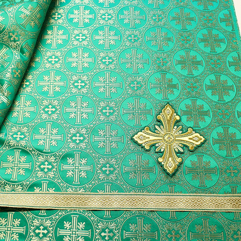Deacon vestments real metal, green