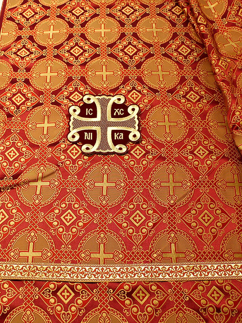 Antioch burgundy priest vestments