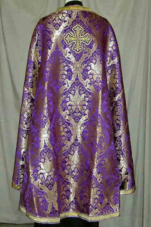 Regal purple priest vestments