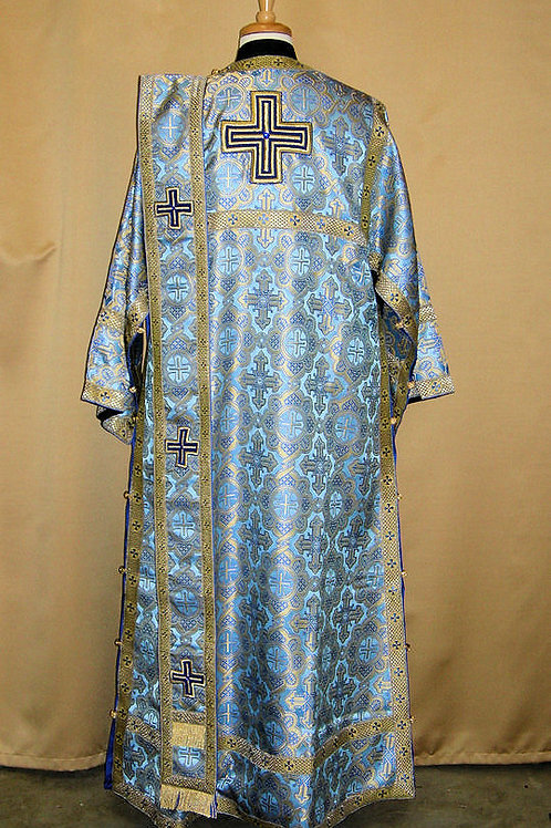 Ravenna blue deacon's vestments