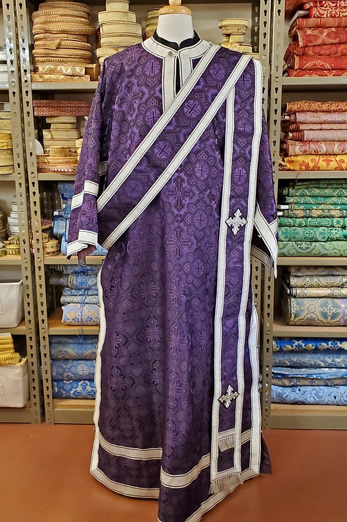Ravenna purple-black deacon vestments