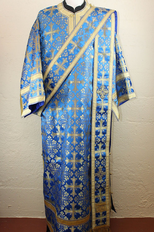 Deacon vestments brocade, blue