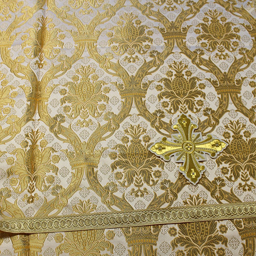 Regal white-gold real metal priest vestments