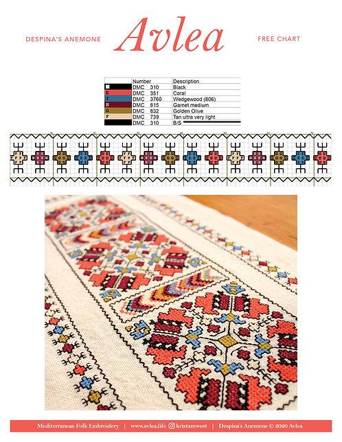 Free chart--Despina's Anemone border