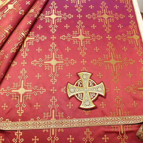 Chandrax burgundy deacon's vestments