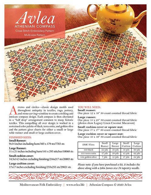 Athenian Compass multi size pattern download