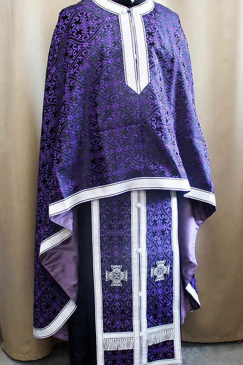 Milan purple-black priest vestments