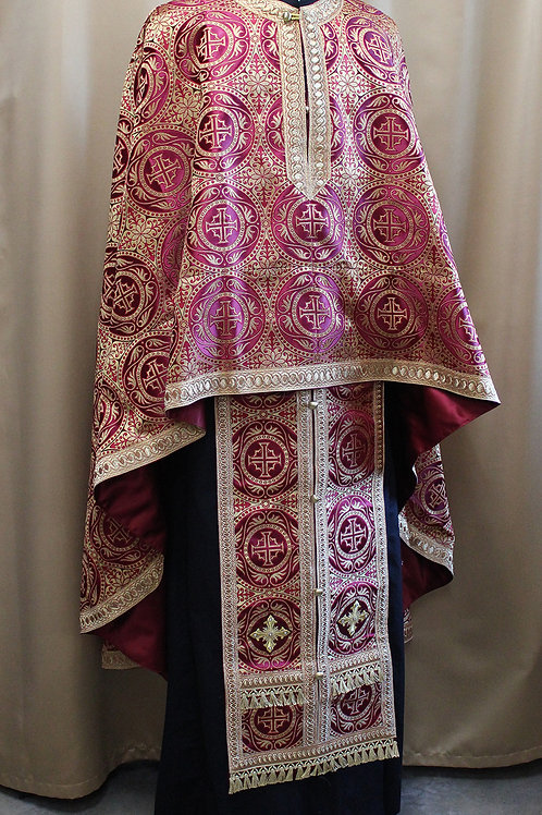 Edessa burgundy priest vestments