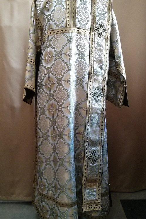 Alexandria white-gold-green deacon's vestments