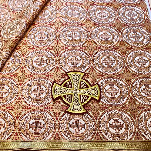 Edessa white-gold-red deacon's vestments
