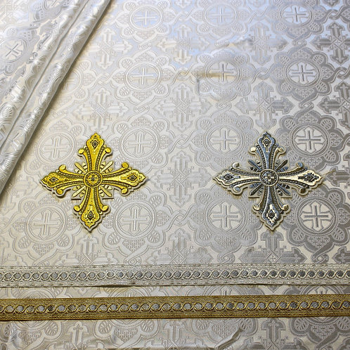 Ravenna solid white deacon's vestments