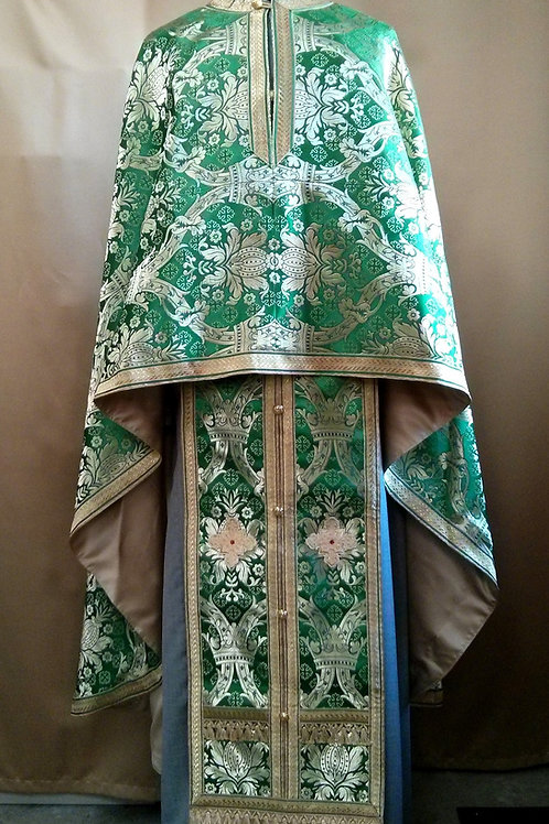 Regal green priest vestments