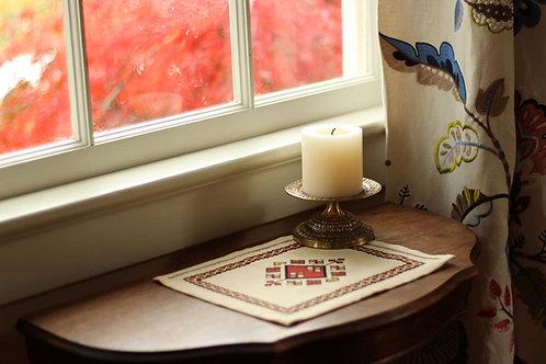 Anatolian Argyle Table Mat Warm colorway