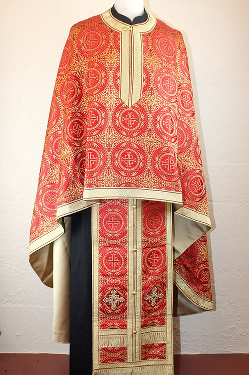 Standard Size Priest's vestments, Red