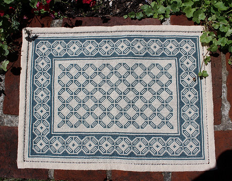 Aegean Octagon Table Mat Teal (M)