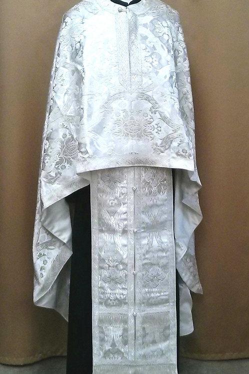 Regal white real metal priest vestments