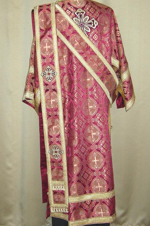 Antioch burgundy deacon's vestments