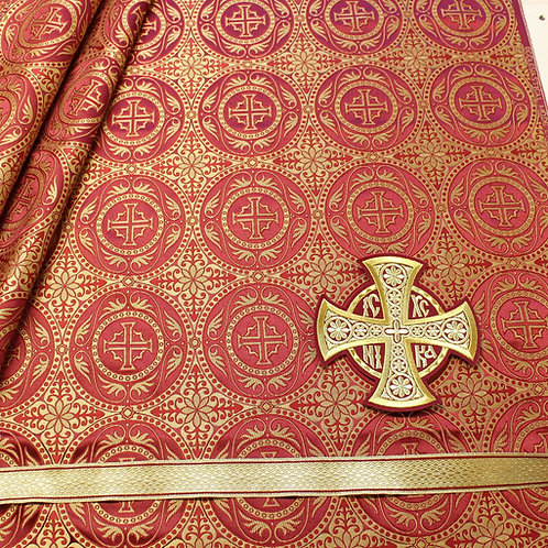 Edessa burgundy deacon's vestments