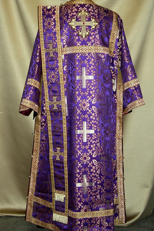 Athens purple-burgundy-gold deacon's vestments