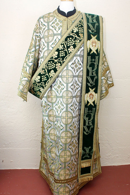 Antioch white-green-gold deacon's vestments