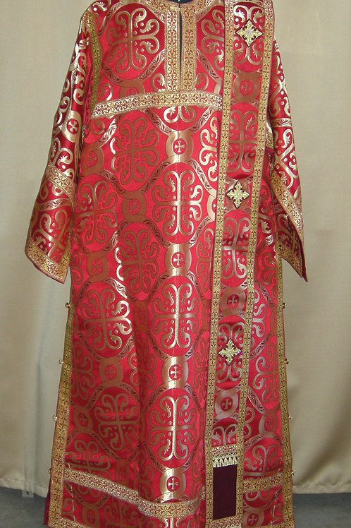 Deacon vestments real metal, red