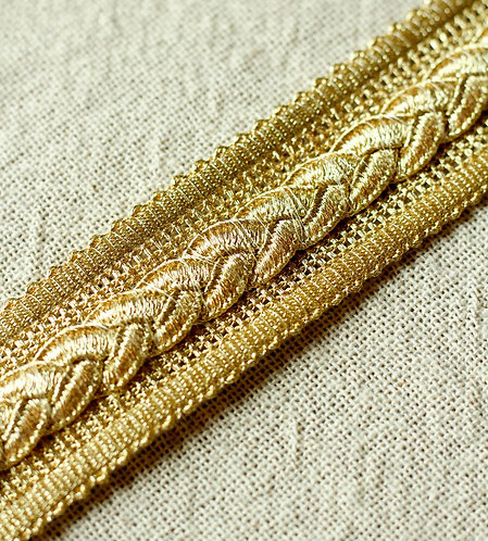 Metallic braid trim