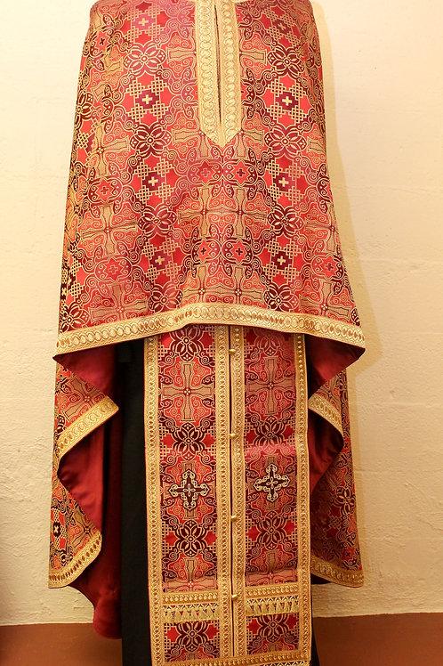 Trebizond burgundy priest vestments
